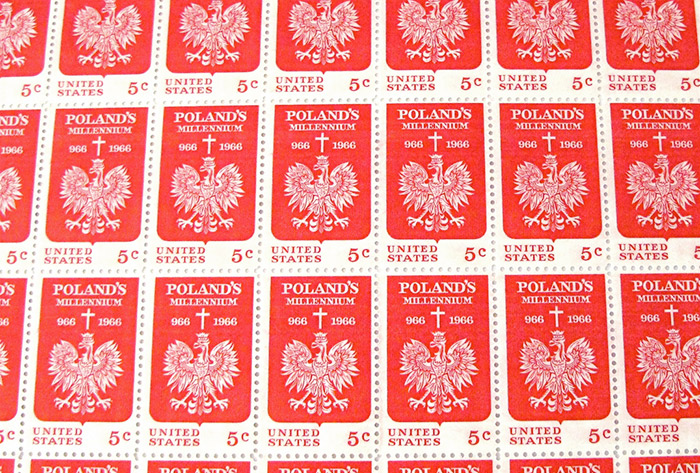 Polish 5 cent stamps
