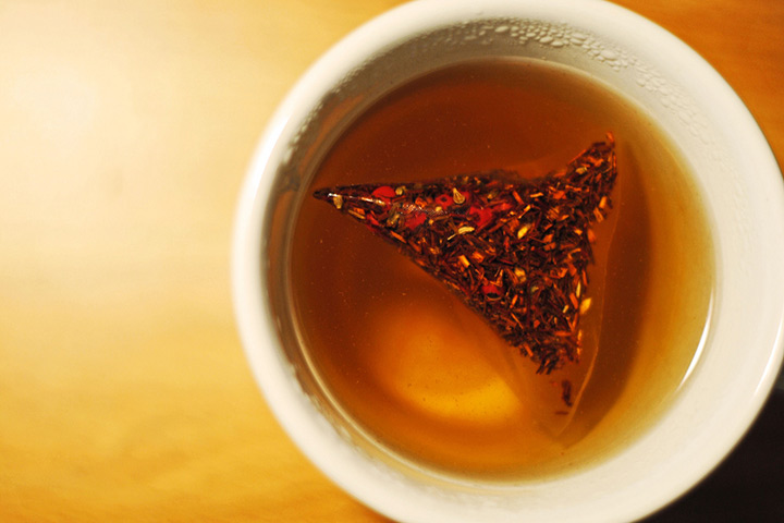 tea bag brewing in a cup of tea