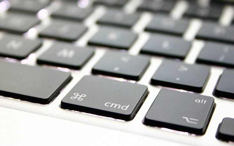 close up of Apple keyboard