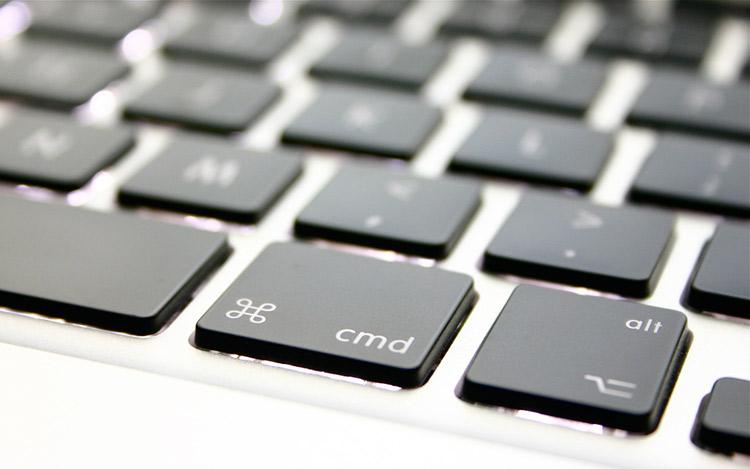 close up of Apple keyboard