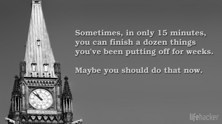 clock tower and motivational quote