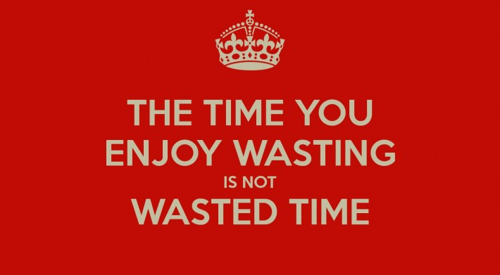 quote about wasted time