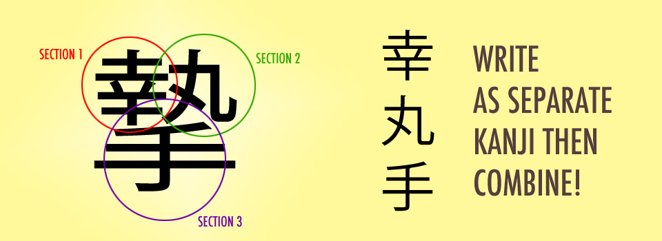 Stroke order for a complicated kanji