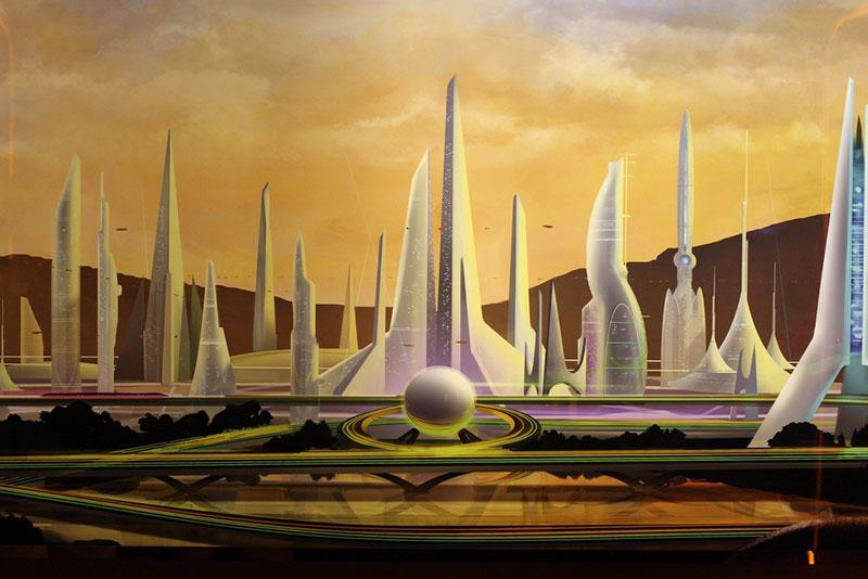 futuristic sci-fi city