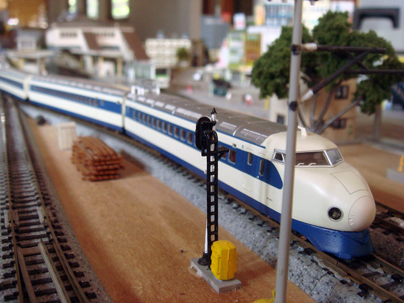 A miniature model of a Shinkasen train