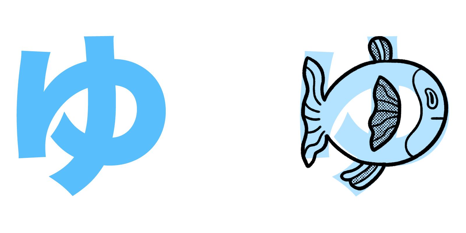 ゆ hiragana mnemonic