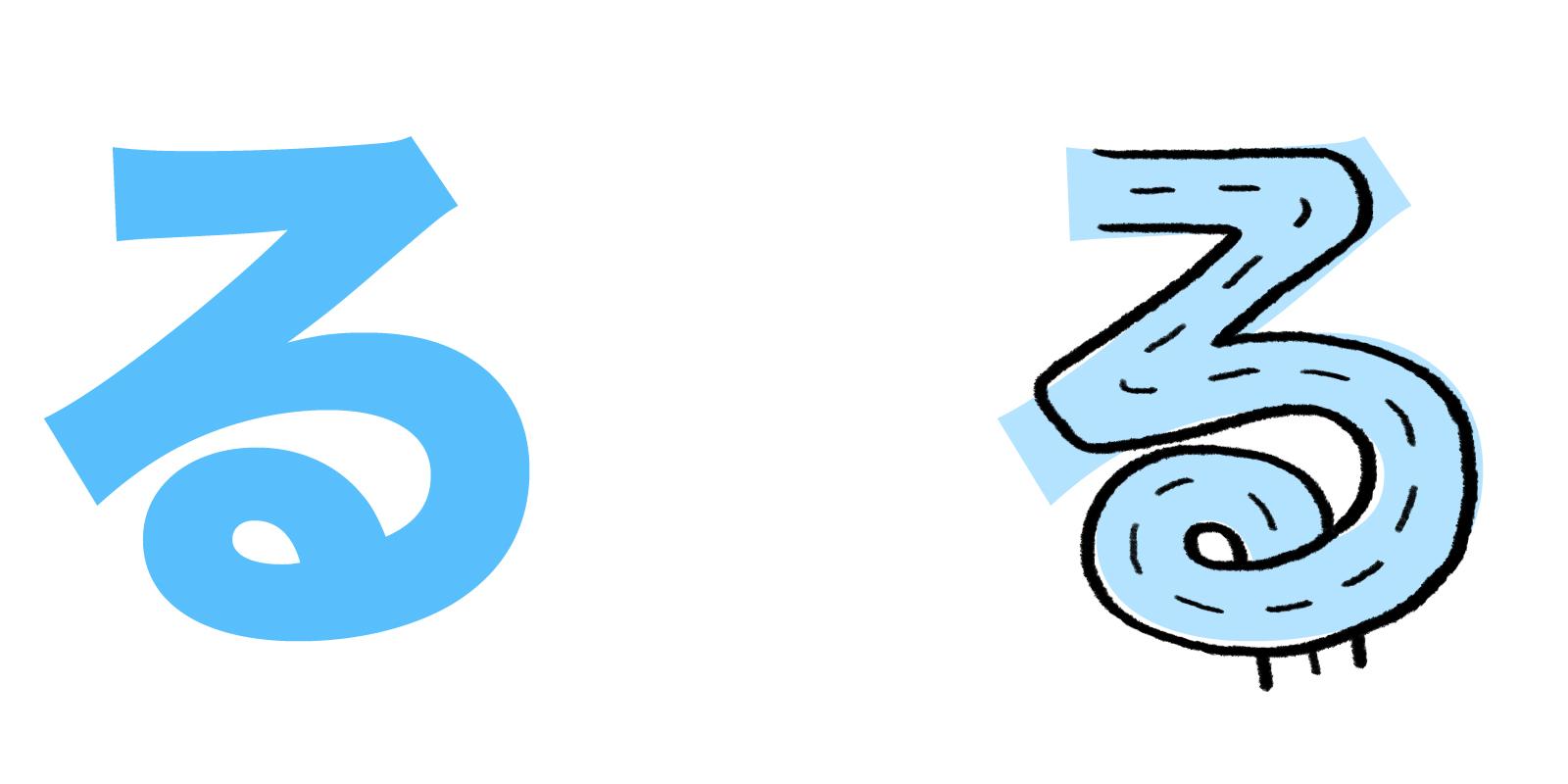 る hiragana mnemonic