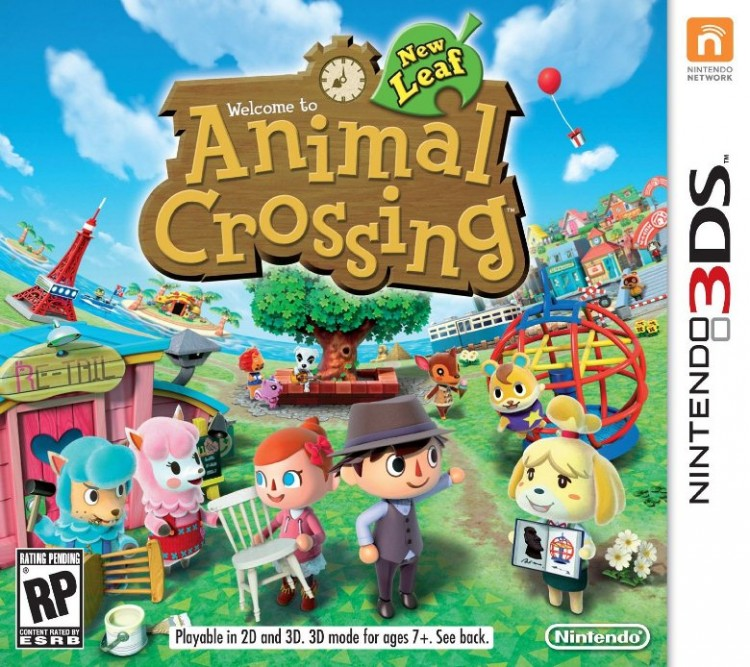 Cover art of the Japanese game Animal Crossing: New Leaf