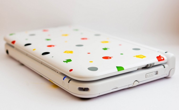 Nintendo 3DS with a cute pattern