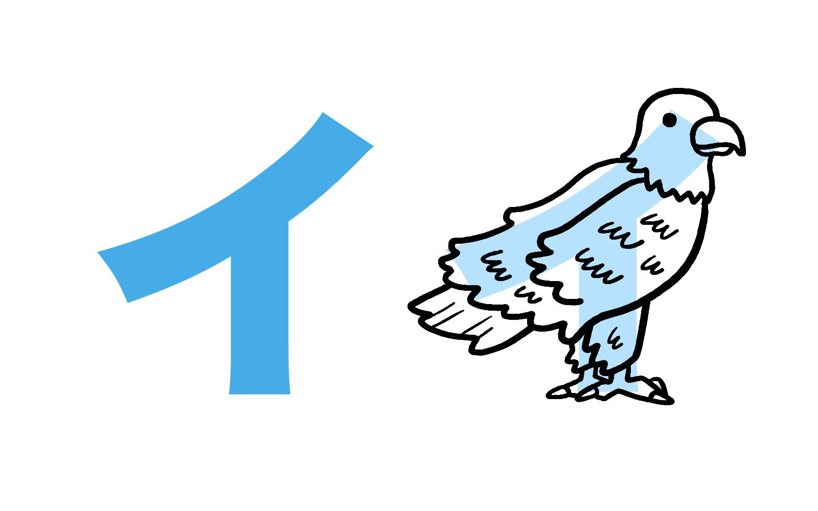 Katakana character イ mnemonic