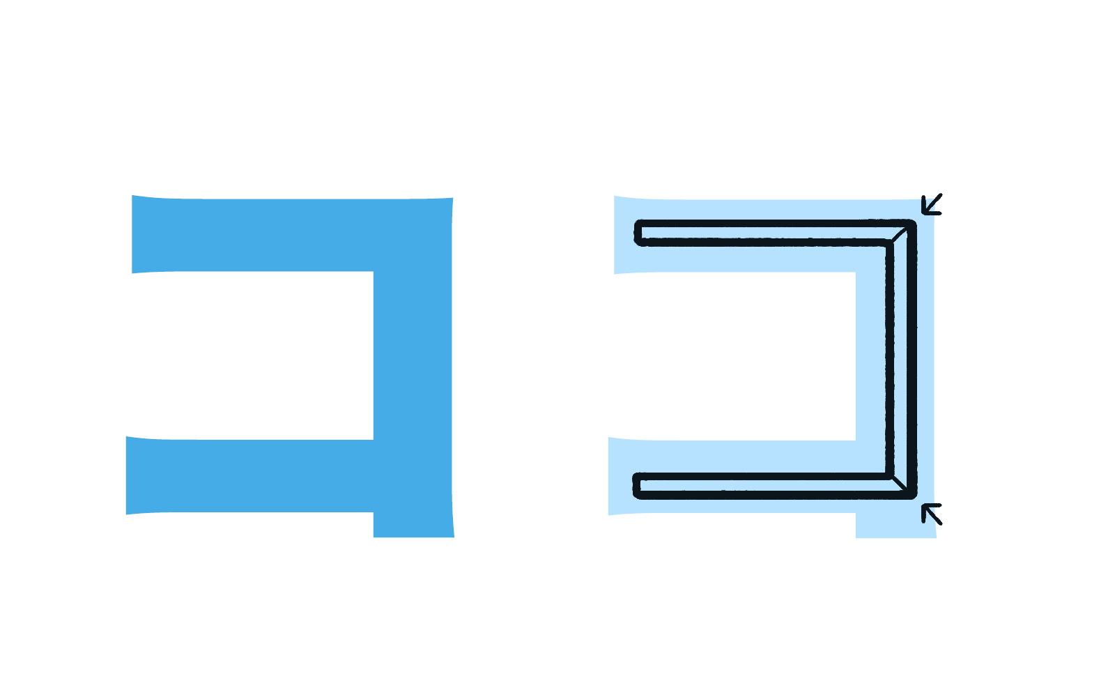 Katakana character コ mnemonic