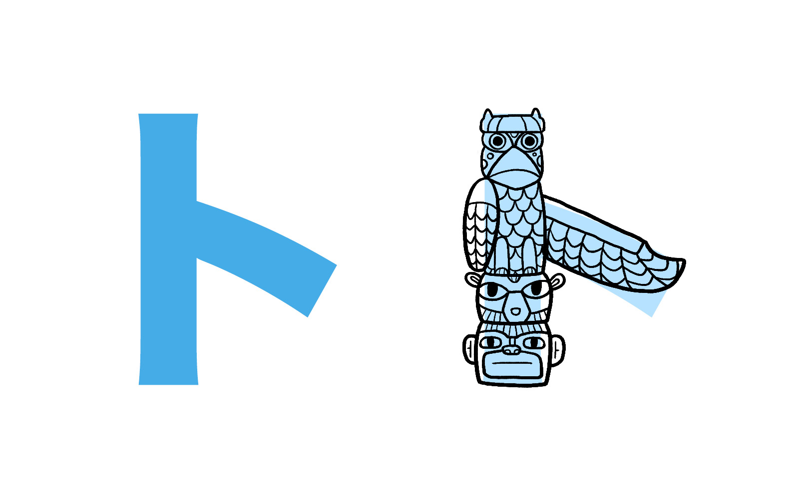 Katakana character ト mnemonic