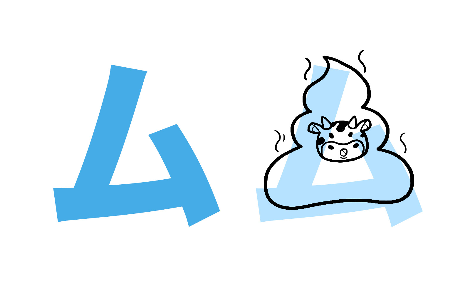 Katakana character ム mnemonic
