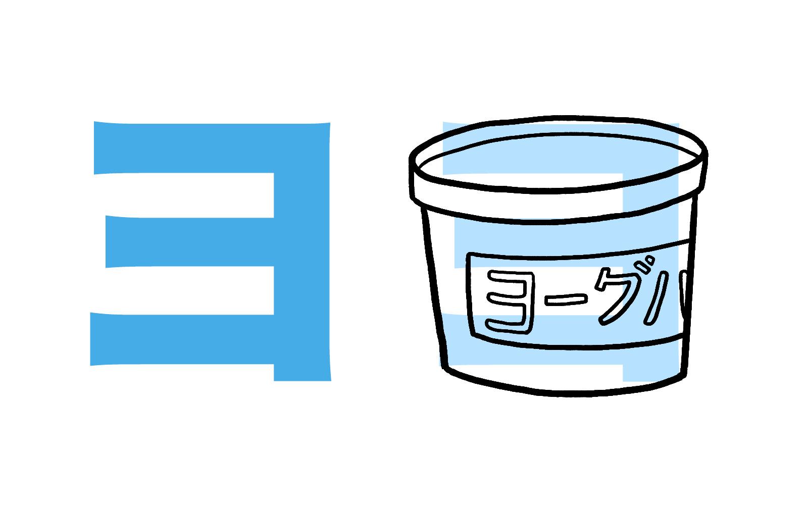 Katakana character ヨ mnemonic