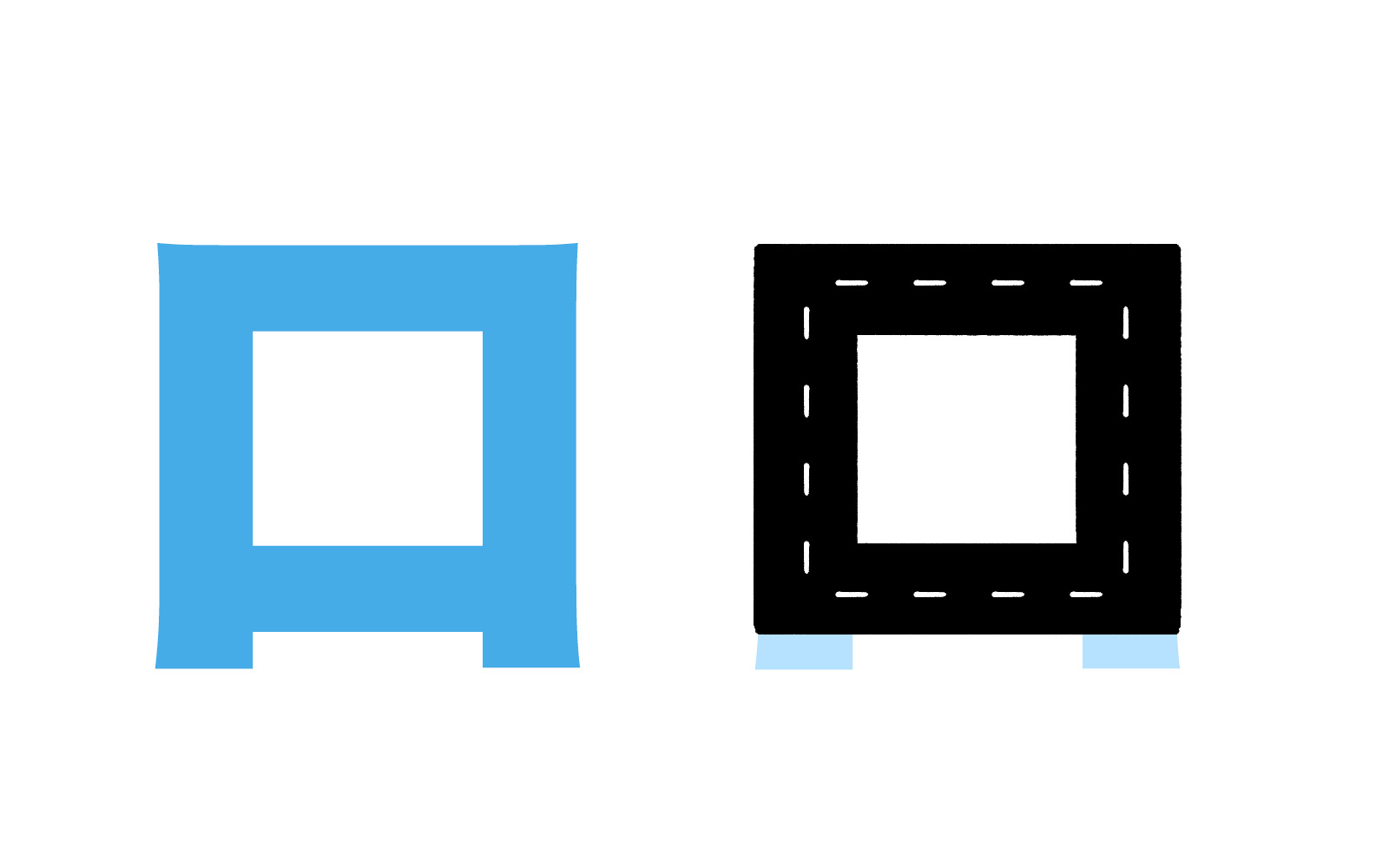 Katakana character ロ mnemonic