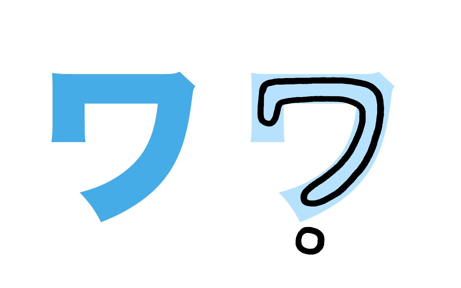 Katakana character ワ mnemonic