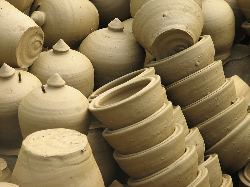 A massive amount of clay pots