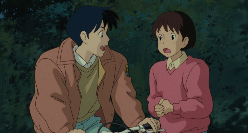 Boy and girl tooking excited and surprised from Whisper of the Heart