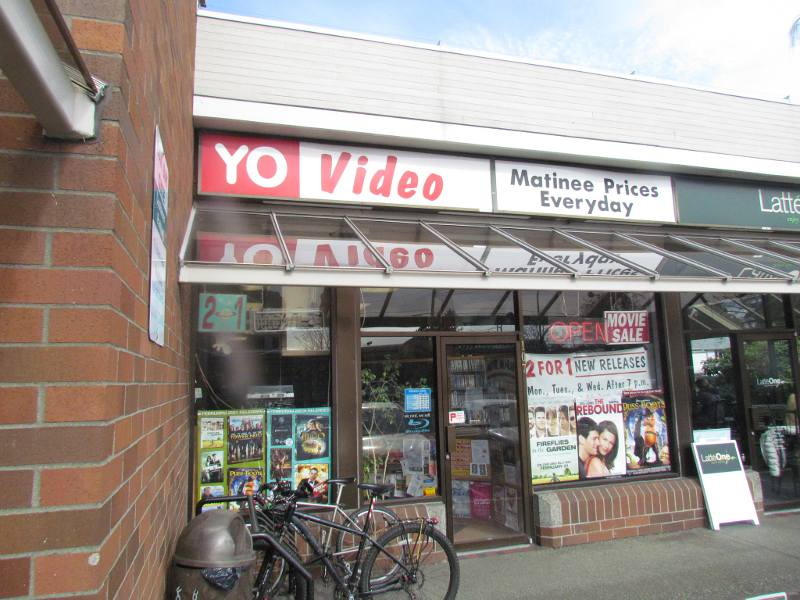 video rental store storefront