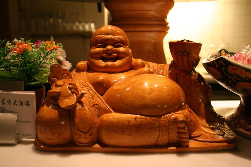 buddha statue with big belly