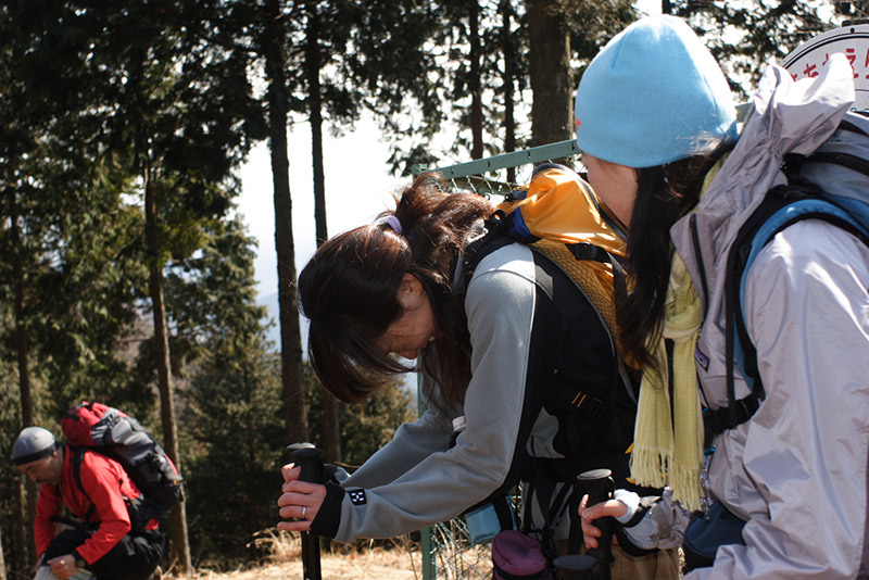 trio of Japanese hikers