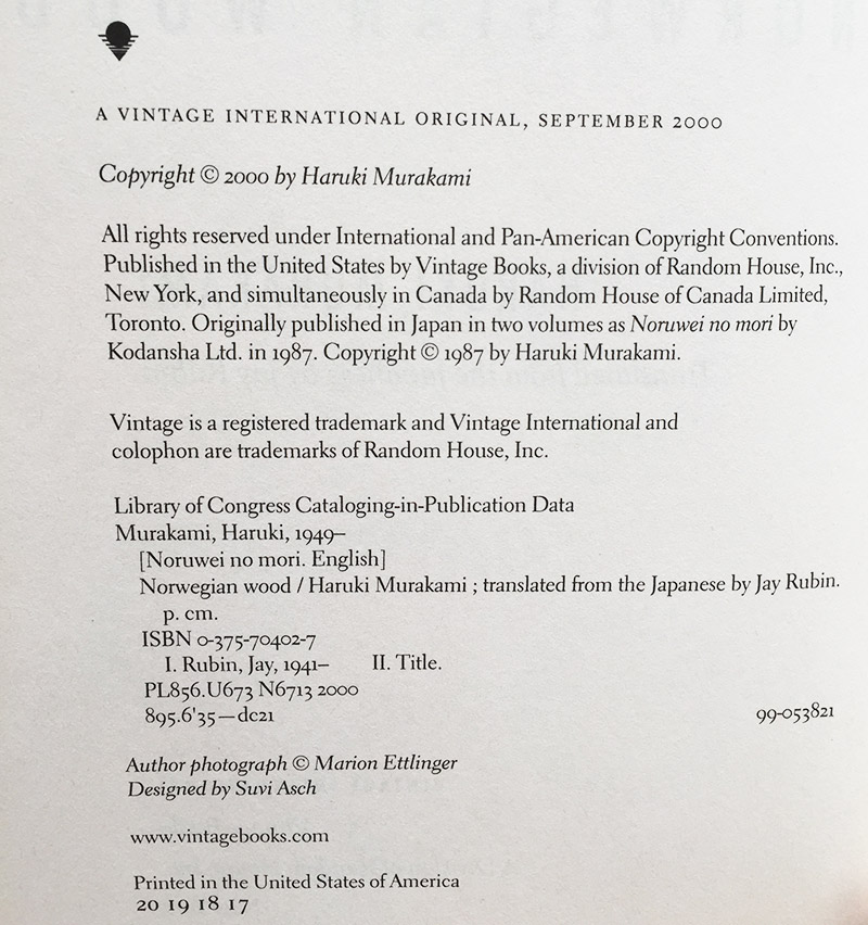 citing japanese sources colophon example
