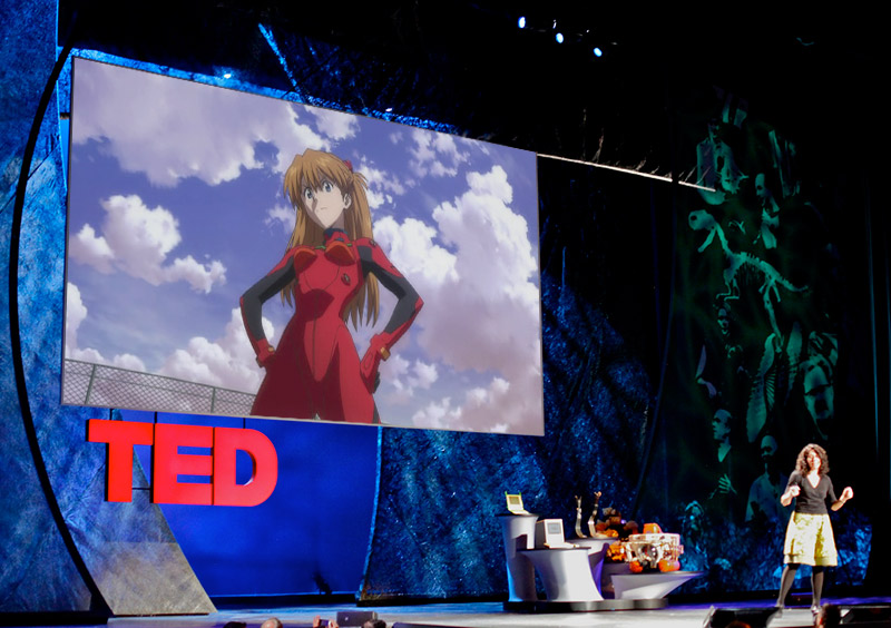A fake TED talk imagining tsundere as the topic
