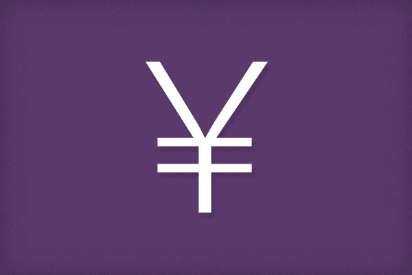 japanese punctuation yen symbol