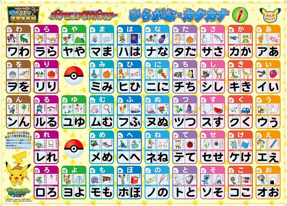 Pokemon hiragana chart