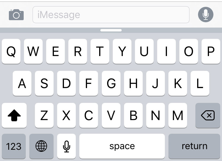 ios keyboard layout