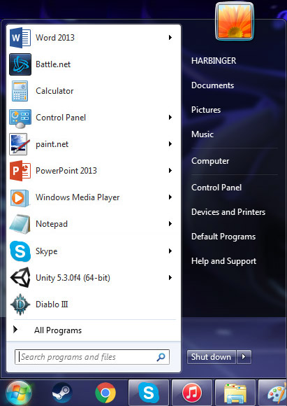 start menu for windows 7