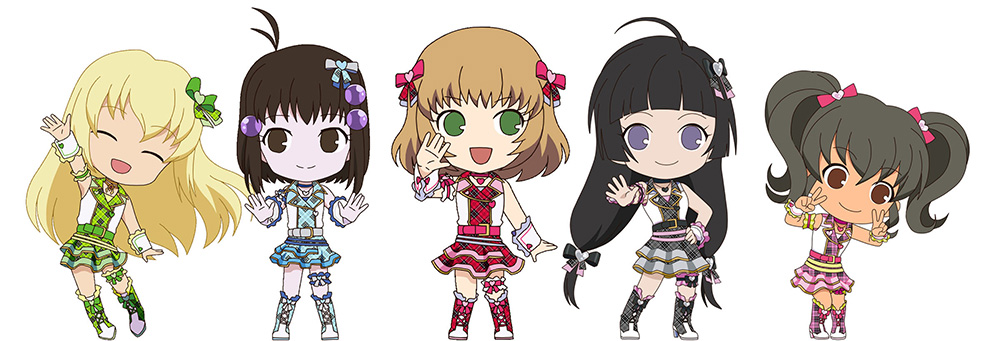 idol master characters as chibi