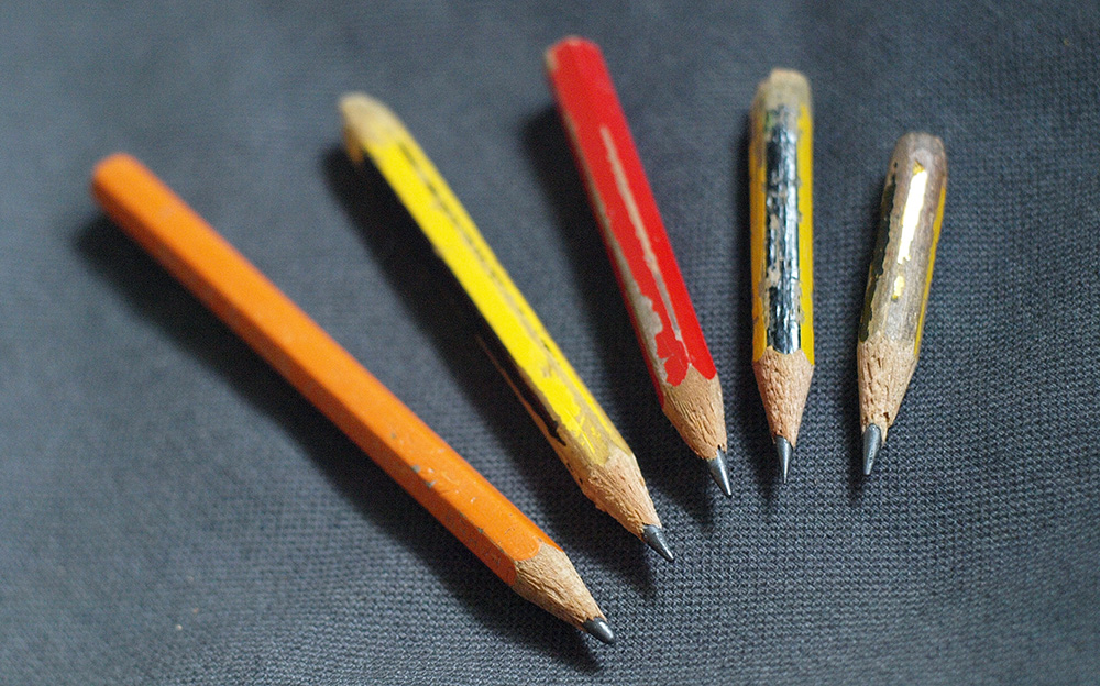 five short pencils