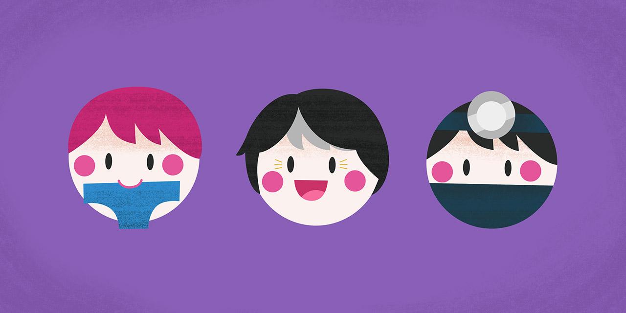 three japanese puns illustrated