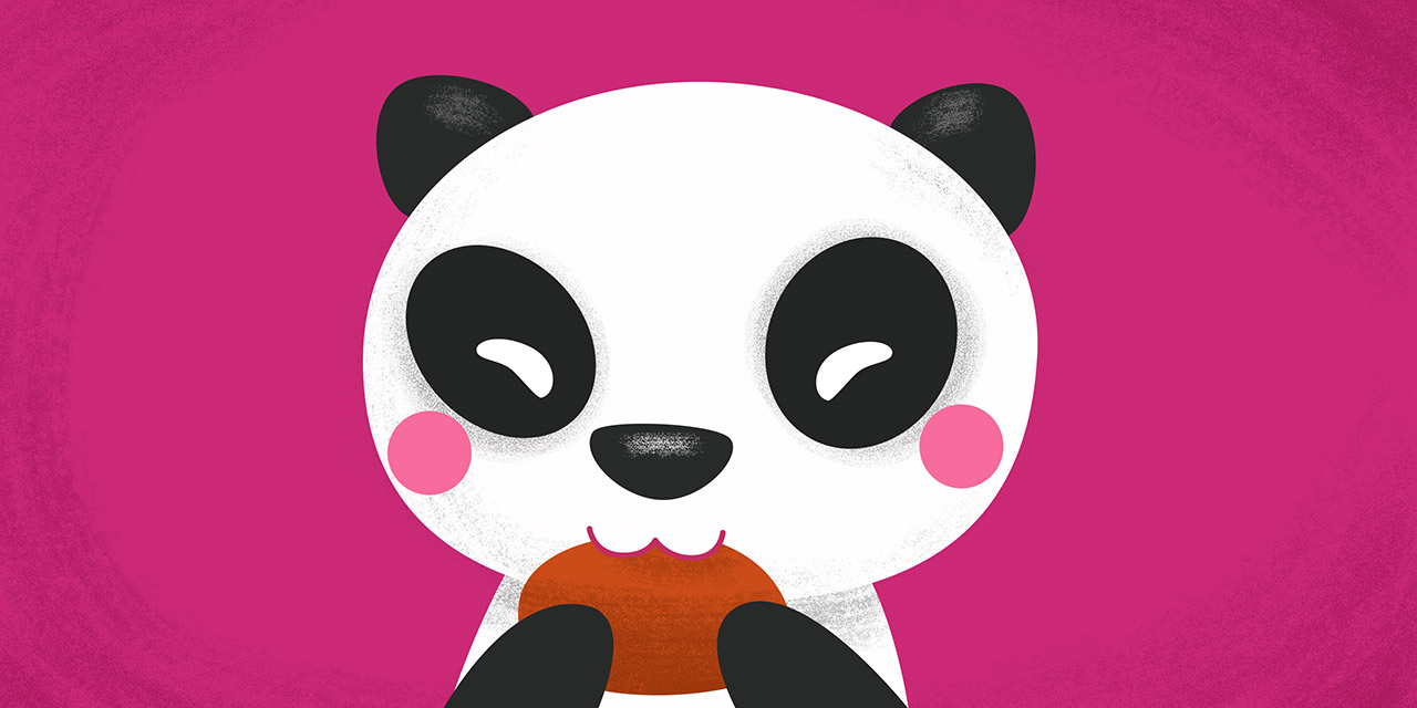 dajare of panda eating bread