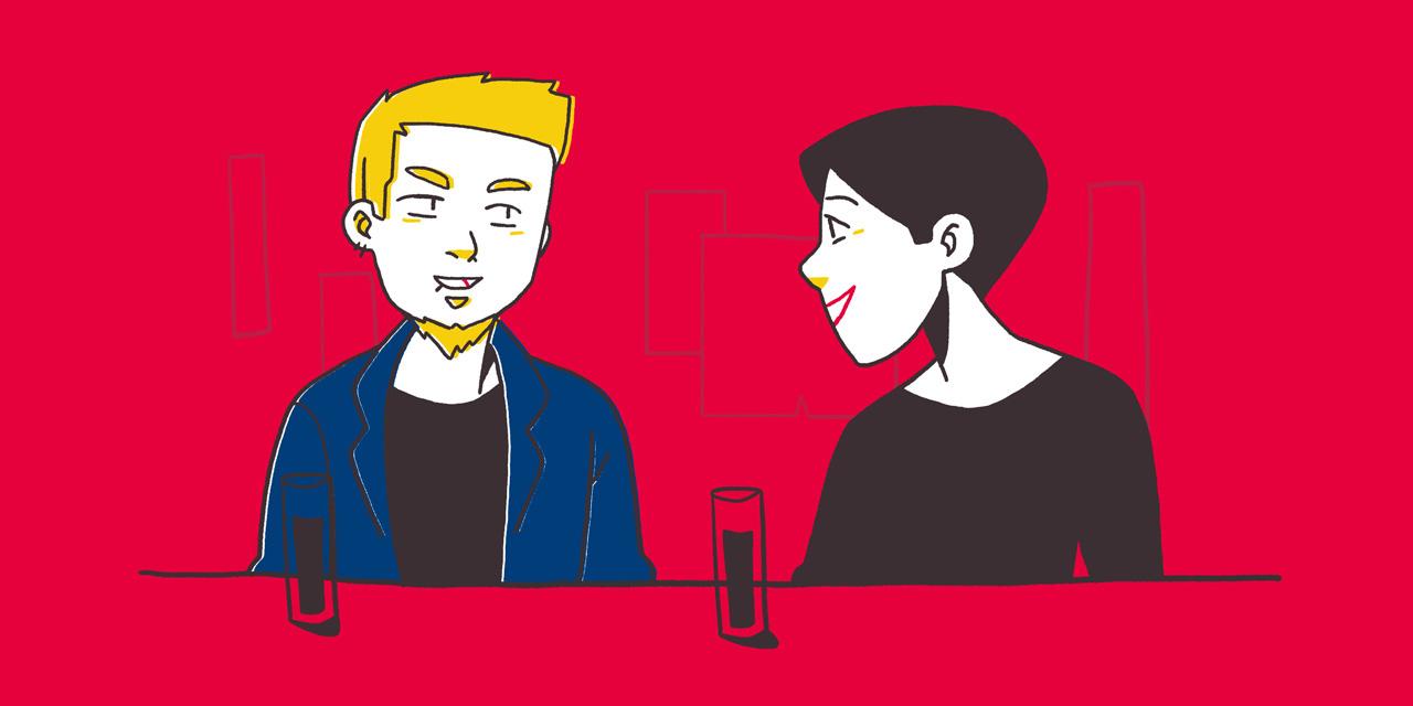 japanese translator zack davisson in a bar