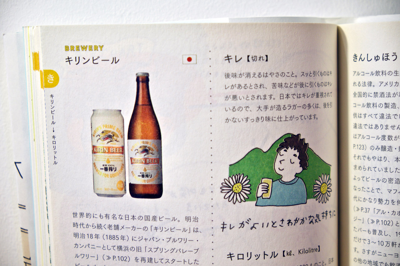 pictures in a japanese beer dictionary