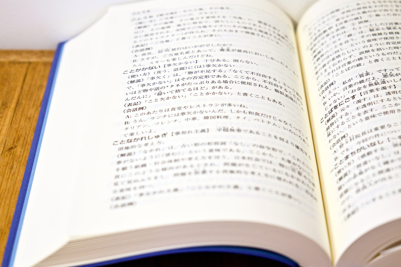dictionary entry in japanese