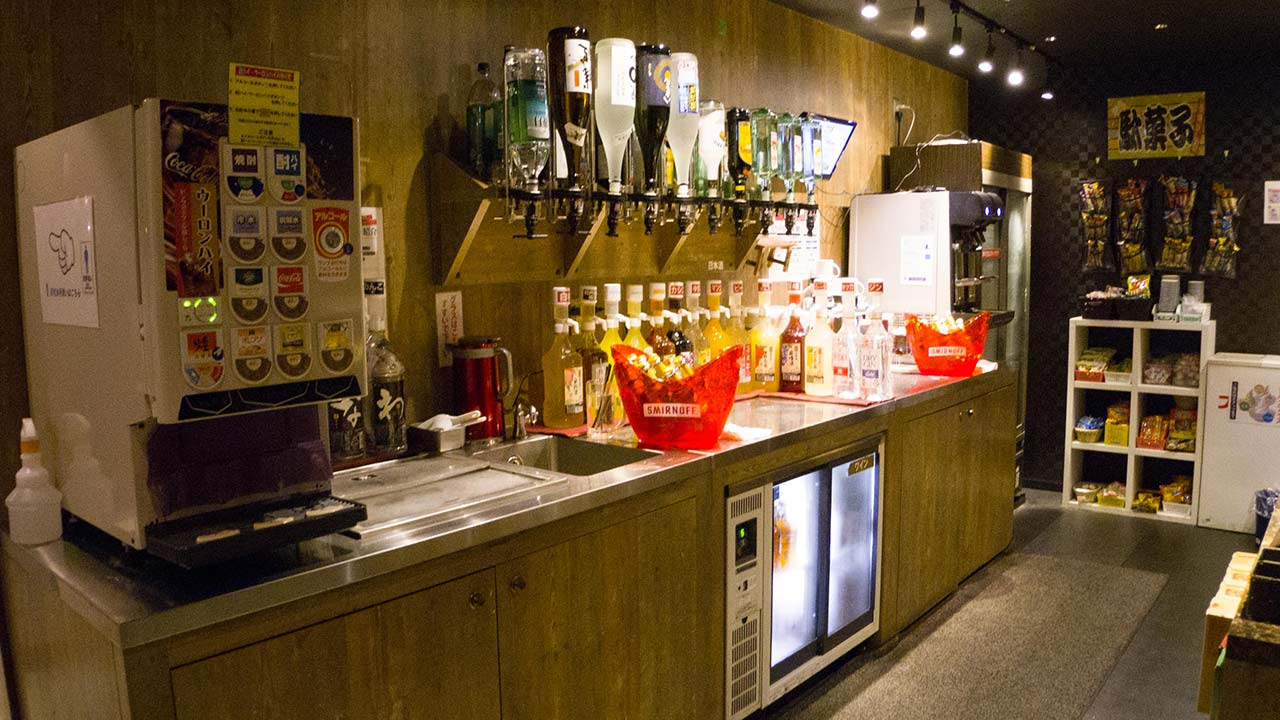 self serve drink bar at aisekiya