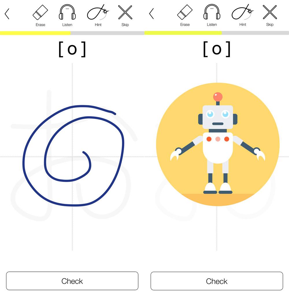 hiragana practice app robokana