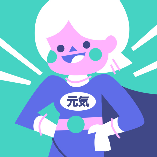 super genki girl superhero