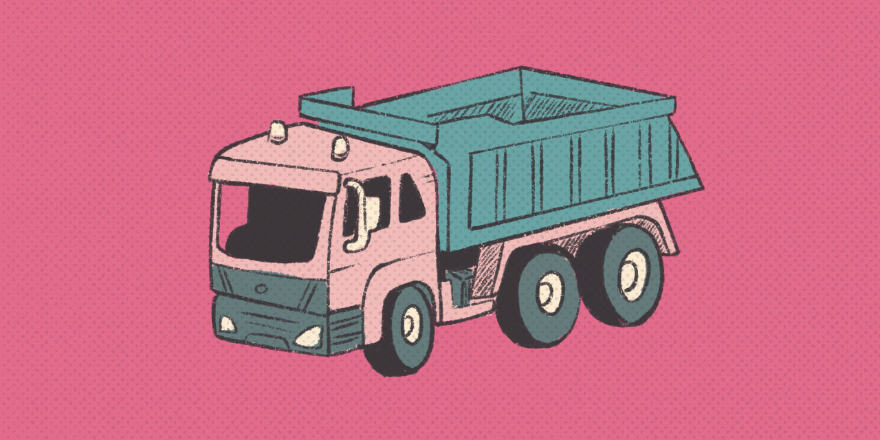 large dump truck counted with japanese counter dai