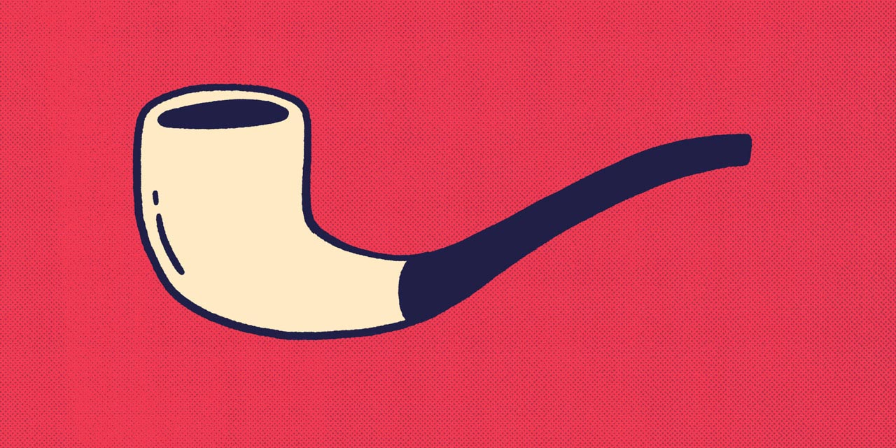 long smoking pipe