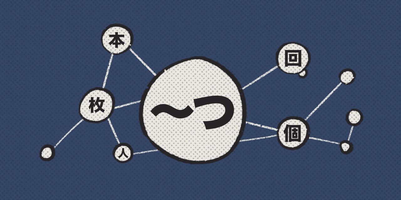 mindmap of kanji stretching from japanese counter tsu
