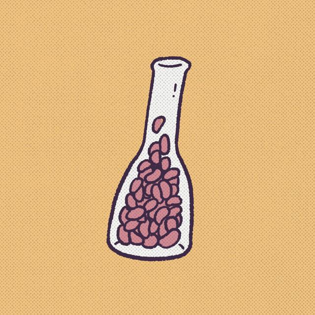 slender jar filled with pennies