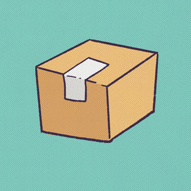 cardboard box with tape