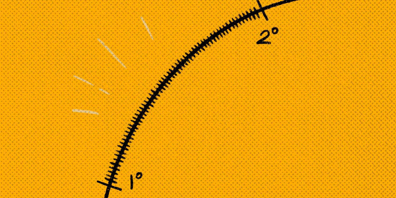 close up of one degree of an angle