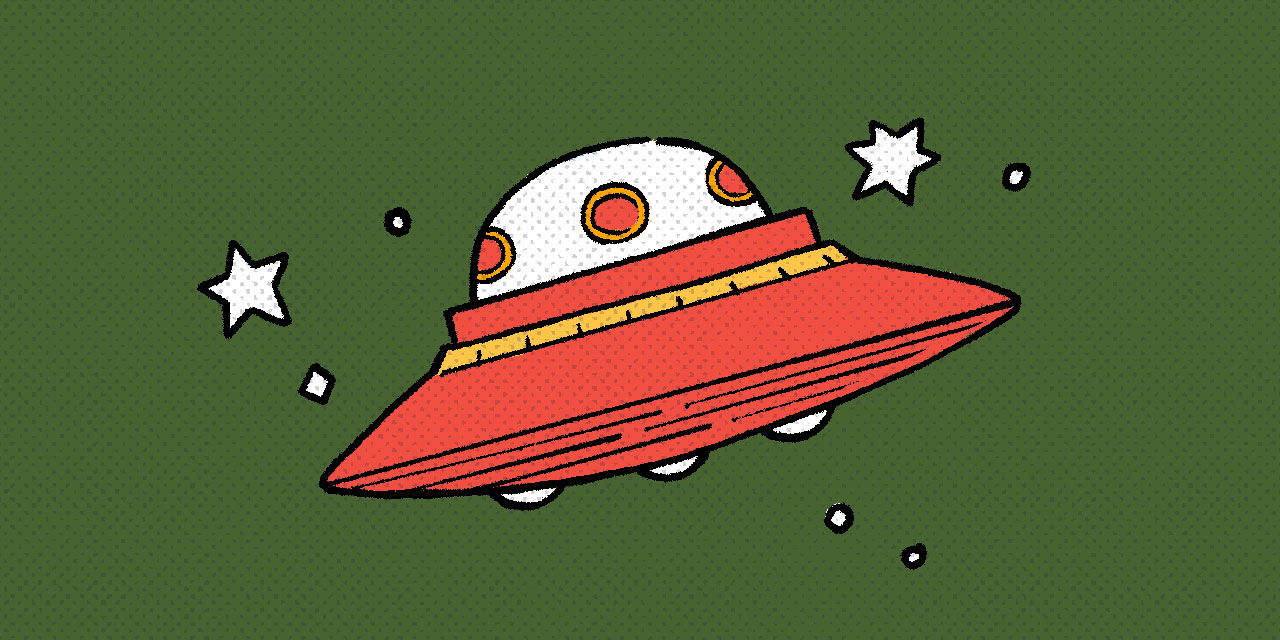 red ufo spaceship