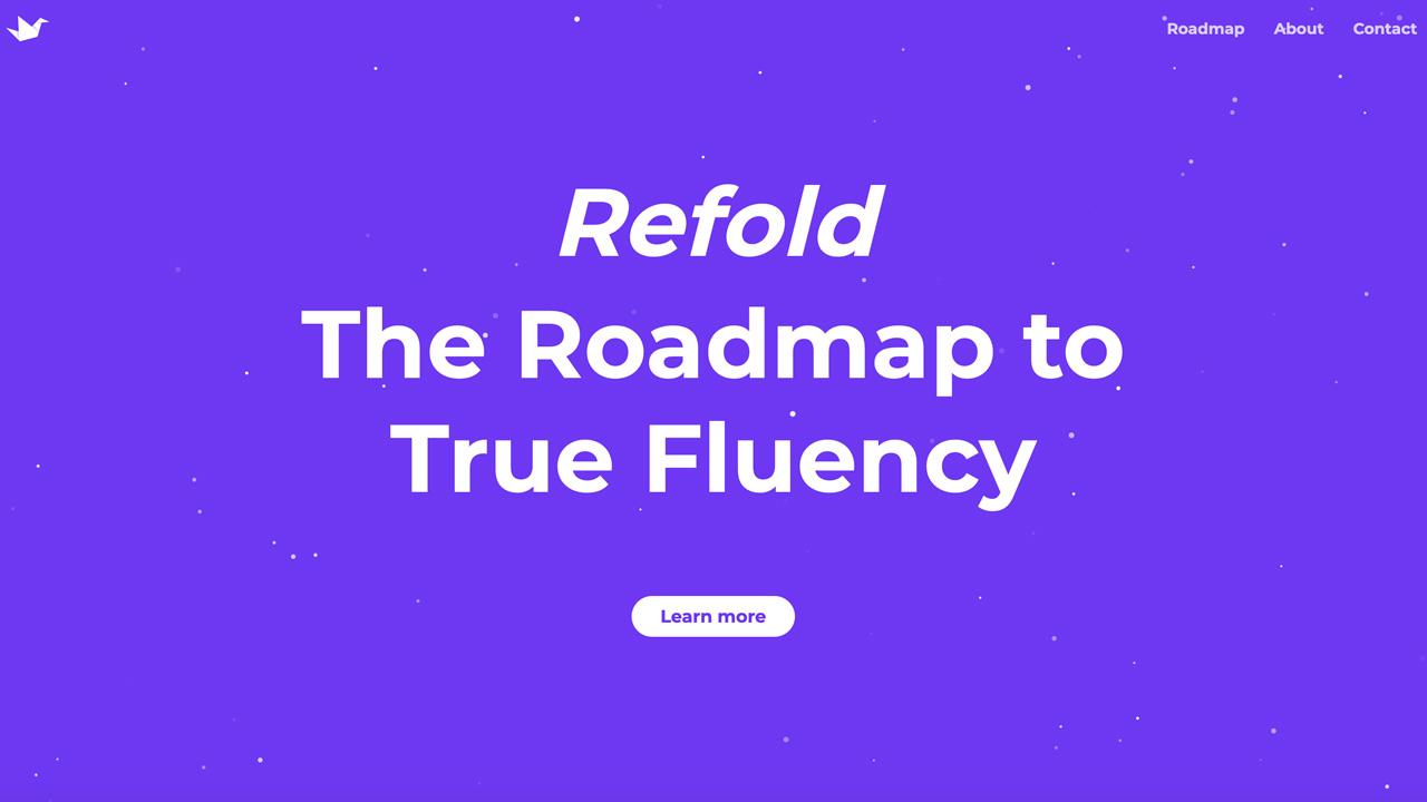 Refold web app homepage