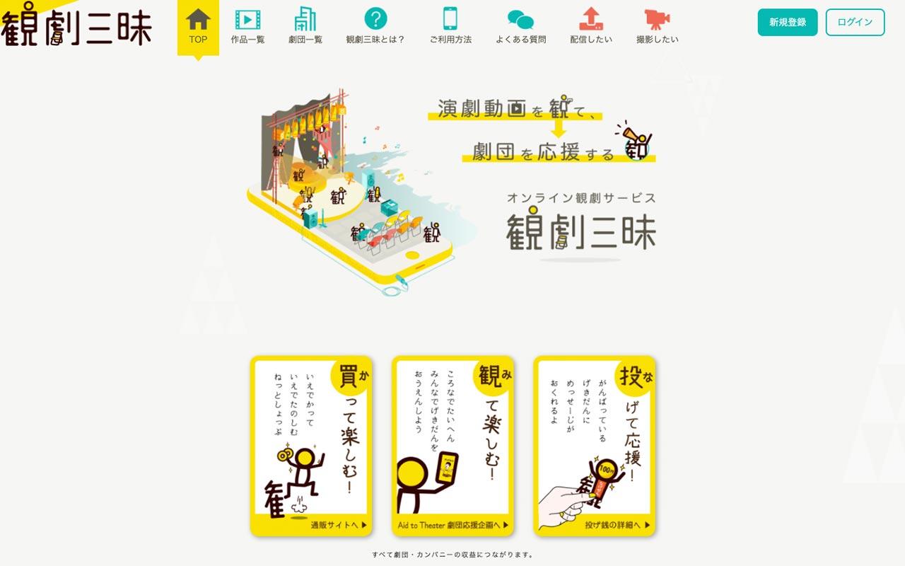 観劇三昧 website for watching Japanese theater plays